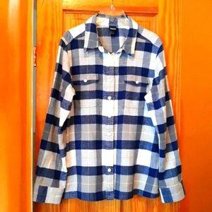 Patagonia Organic Cotton Fleece Plaid Shirt